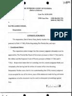 Florida Bar v David J. Stern - Consent Judgment
