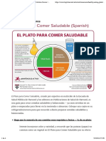 El Plato para Comer Saludable (Spanish) | The Nutrition Source | Harvard T.H. Chan School of Public Health
