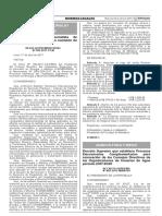 Decreto Supremo que establece Procesos Eleccionarios Complementarios para renovación de los Consejos Directivos de las Organizaciones de Usuarios de Agua periodo 2017-2020