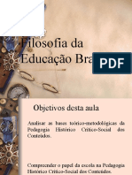 Aula 3 - Filosofia Da Educação Brasileira