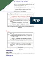 Modelo de Ficha Catalografica