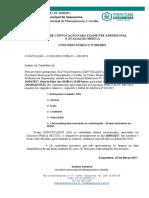 Edital de Convocação Para Exame Pré Admissional