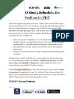 IBPS PO Study Schedule for Prelims in PDF 1