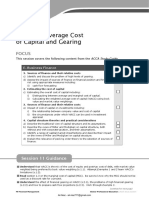 F9-11 Weighted Average Cost of Capital and Gearing