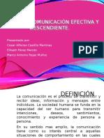 Comunicacion efectiva y descendiente.