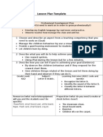 lesson plan template d arabic