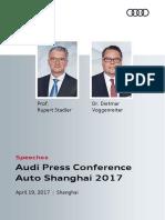 Speeches Auto Shanghai 2017