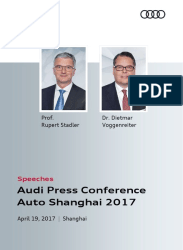 Speeches Auto Shanghai 2017