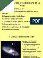 0. Origen y Estructura de La Tierra