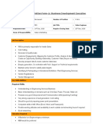 Requisition Form Business Development PES
