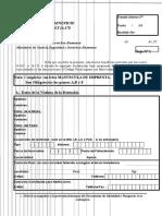 Ley n 24043 Solicitud de Beneficio