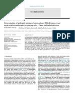Determinación de hidrocarburos policiclicos aromaticos GC-FID