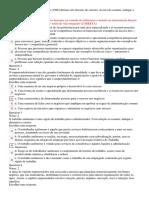 Tópicos de Atuação Profissional - Questionário 1 -