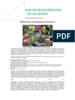 La Pérdida de Biodiversidad en Ecuador