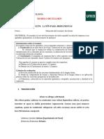 Modelo Examen Latin Para Hispanistas 16-17