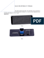 Me LED Matrix 8×16 User Guide