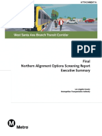 WSAB Northern Alignment Options Screening Report Executive Summary