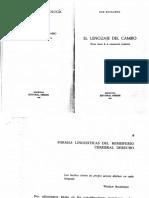 EL LENGUAJE DEL CAMBIO. Formas Lingüisticas Del Hemisferio Cerebral Derecho
