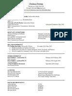 Resume Pre Internship