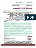 5.FORMULATION DEVELOPMENT OF VALSARTAN FLOATING TABLETS EMPLOYING A NEW MODIFIED STARCH – OPTIMIZATION BY 23 FACTORIAL DESIGN Swathi G *1 , K. P. R. Chowdary2 and A. Muralidhar Rao.3