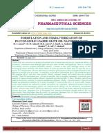 13.FORMULATION AND CHARACTERIZATION OF FLUCONAZOLE LOADED OLIVE OIL NANOEMULSIONS M. J. Ansari1* , M. M. Ahmed 1 , M.K. Anwer1 , S. Jamil1 , A. Alailaiwe1 , A.S. Alshetaili1 , R. Shdefat1, 2 , R. Ali3 , F. Shakee