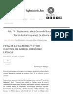 Fiera de La Balbuena y Otros Cuentos, De Gabriel Rodríguez Liceaga
