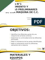 Conocimiento y Medidas Preliminares de Una Máquina de c.c.