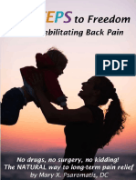 5 Steps to Freedom From Debilitating Back Pain