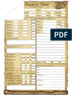Heroes Against Darkness - Character Sheet