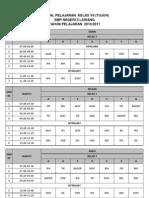 jadwal pelajaran 1011 kelas 7