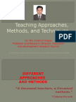 Teaching Approaches, Methods, and Techniques- Dr.Md. Enamul Hoque