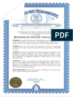 Michigan State Police Day Proclamation
