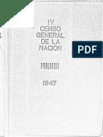 Censo General de la Nación, Argentina, 1947