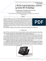 Asynchronous Wi-Fi Control Interface (AWCI) Using Socket IO Technology