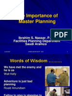 Ibrahim Nassar - The Importance of Master Planning