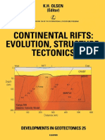 Continental Rifts Evolution Structure Tectonics Developments in Geotectonics