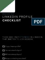 LinkedIn Profile Checklist