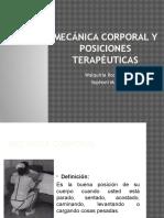 Mecánica Corporal y Posiciones Terapéuticas