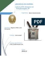 Ensayos en Transformadores de Medida Trifásico TRAFOMIX
