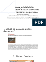 Defensa Judicial de Las Comunidades Nativas Afectadas. Congreso 18 04 2017