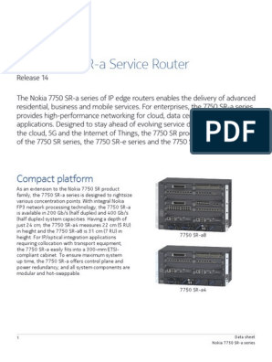 7750 SRa (Aggregation)   Multiprotocol Label Switching
