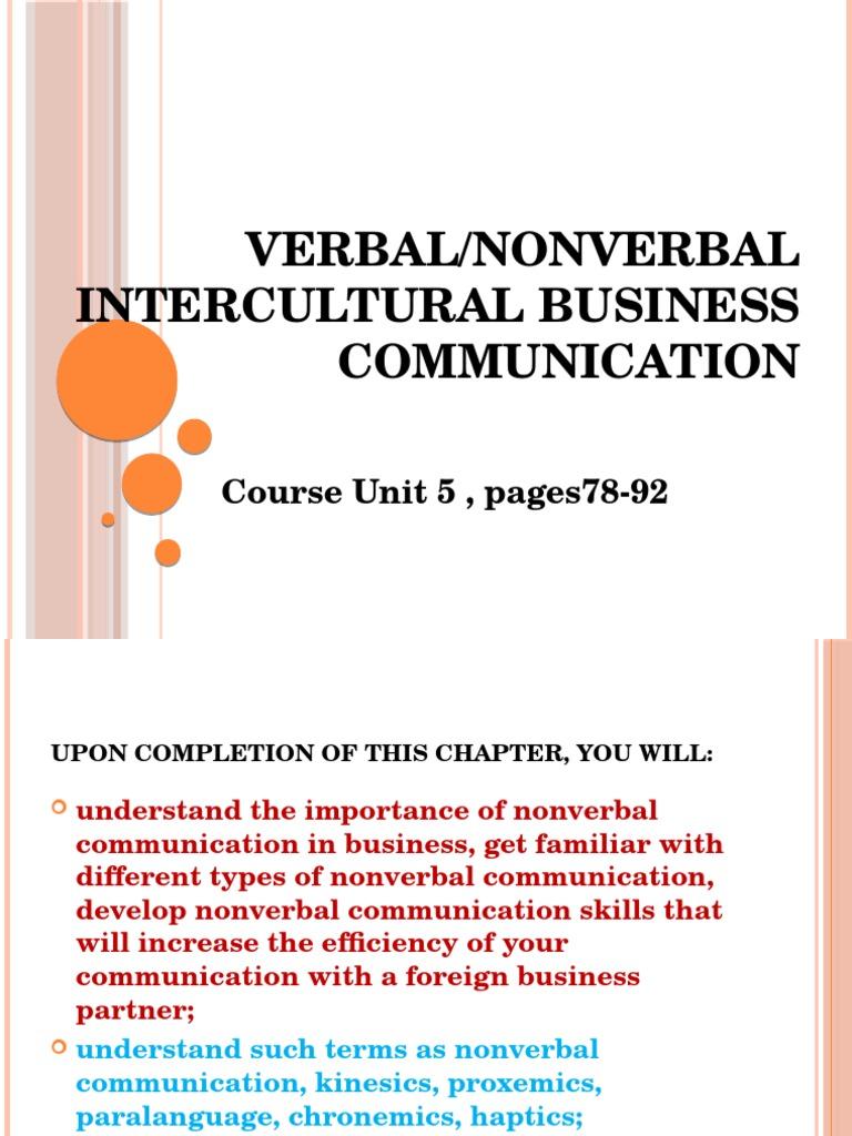 english | Nonverbal Communication | Interpersonal Communication