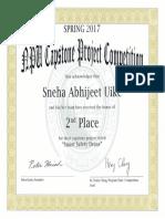 Capstone Certificate