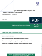 Boston Consulting Group Responsible Consumers - Unilever Discussion 21st July 2015
