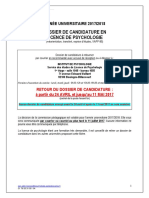 Dossier Candidature Licence 2017-2018
