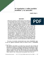 """Lissette Aliaga - Racionalidad Económica y Redes Sociales. Las """"Paraditas"""" y su mercado"""