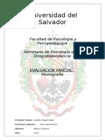 Monografía Drogodependencia Universidad del Salvador