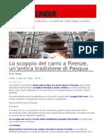 Lo Scoppio Del Carro a Firenze Unantica Tradizione Di Pasqua