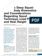 Dynamic Deep Squat Lower-Body Kinematics and Considerations Regarding Squat Technique, Load Position, and Heel Height