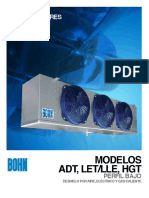 BCT 005 306 Evaporadores Para Camaras Frigorificas de Bajo Perfil ADT LET LLE HGT